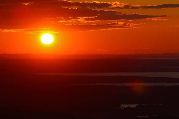Photograph - Deep Orange Sky by Polly Castor