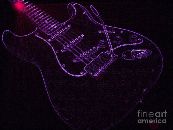 Neon Pink Photograph - Deep Purple by Roxy Riou