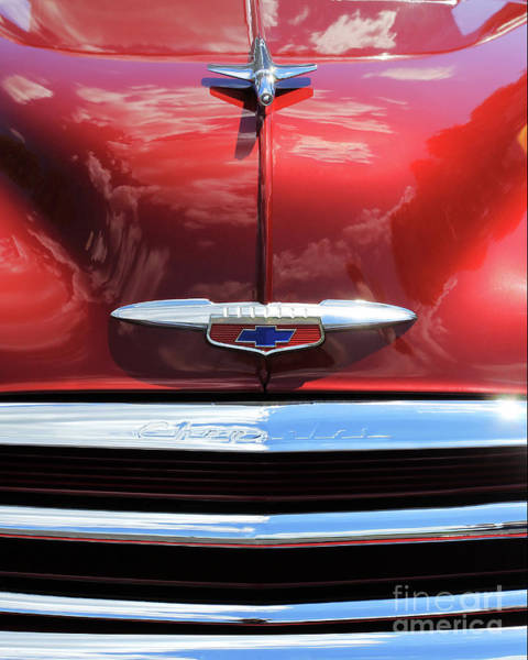 Photograph - Deep Red Chevy by Jennifer Robin