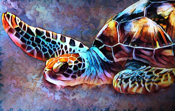 Deep Sea Trutle Art Print