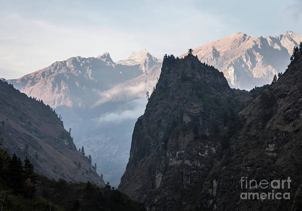 Photograph - Deep Valley Near Dharapani Along The Famous Annapurna Circuit Tr by Didier Marti