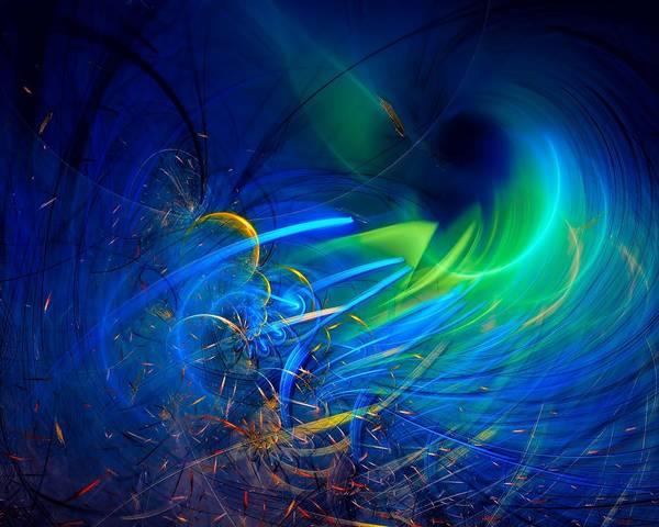 Reef Diving Digital Art - Deep Water by Marfffa Art