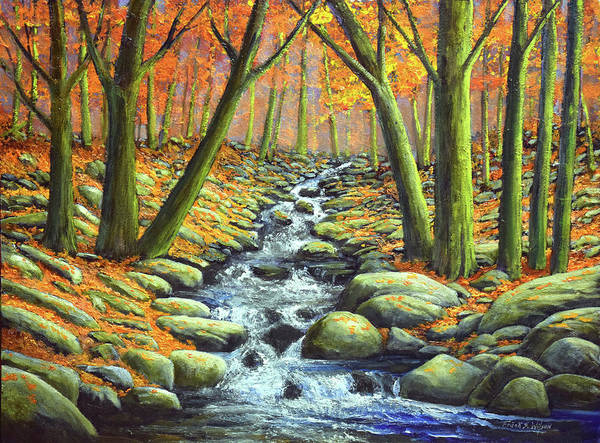 Wall Art - Painting - Deep Woods Brook by Frank Wilson