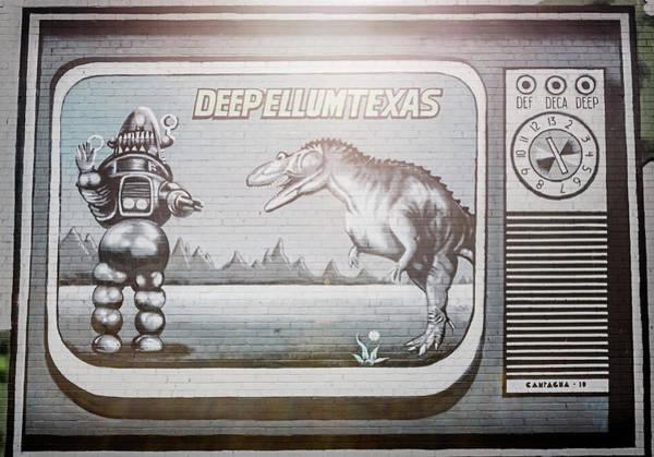 Wall Art - Photograph - Monster Mural Dallas Tx by Joan Carroll