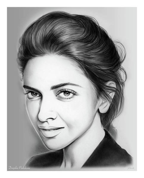 Actress Drawing - Deepika Padukone by Greg Joens