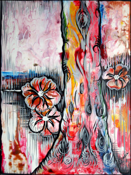 Airbrushed Wall Art - Painting - Deeply Rooted V by Shadia Derbyshire