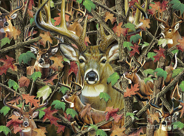 Painting - Deer Camo by JQ Licensing  Cynthie Fisher