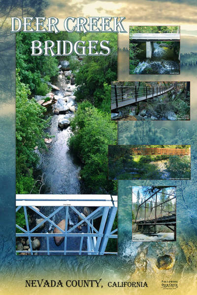 Digital Art - Deer Creek Bridges by Lisa Redfern