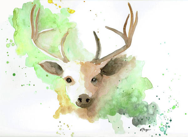 Painting - Deer  by Emily Page