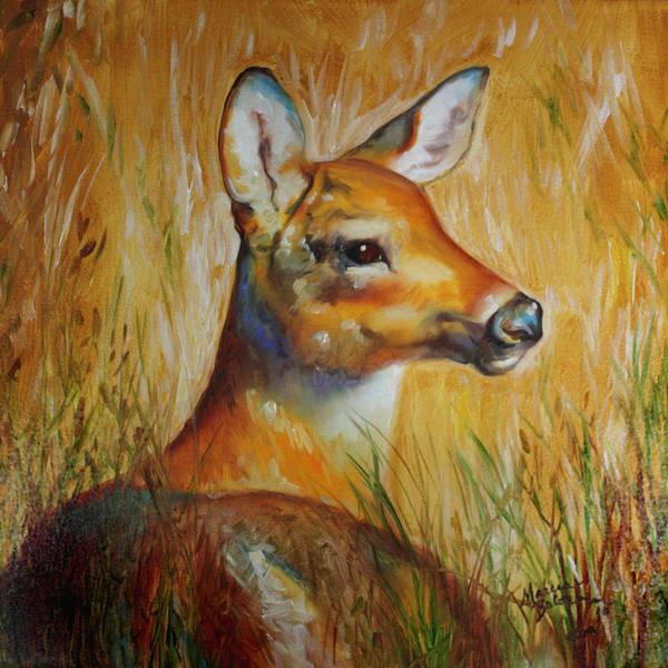 Painting - Deer Hideaway by Marcia Baldwin