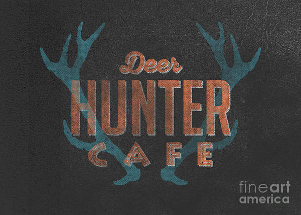 Deer Wall Art - Digital Art - Deer Hunter Cafe by Edward Fielding