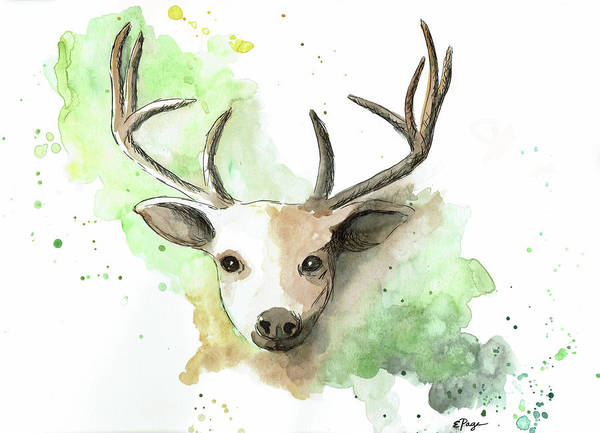 Painting - Deer II by Emily Page