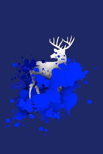 Digital Art - Deer In Blue by Alberto RuiZ