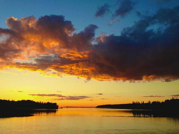 Photograph - Deer Isle Sunset  by Polly Castor
