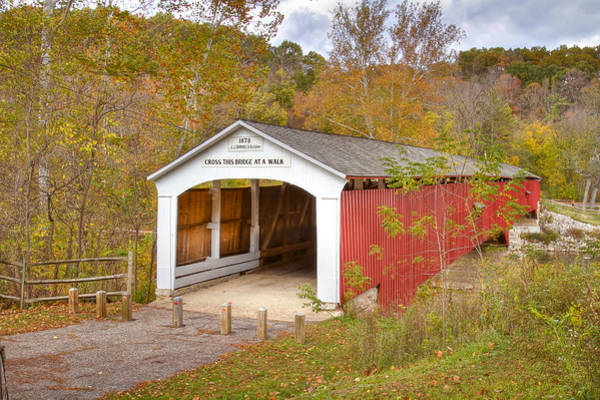 Photograph - Deer Mill Covered Bridge by Jack R Perry