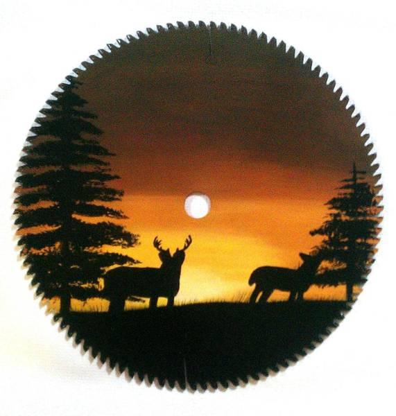 Bier Painting - Deer  Sunset by Matt Bier