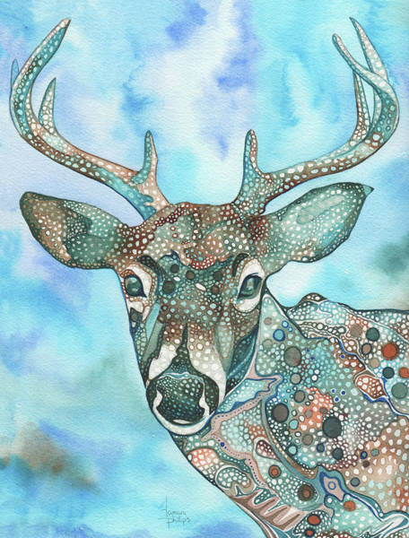 Deer Wall Art - Painting - Deer by Tamara Phillips