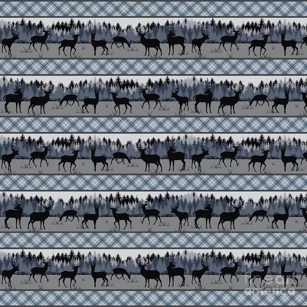 Wall Art - Digital Art - Deer Trail Lodge-b by Jean Plout