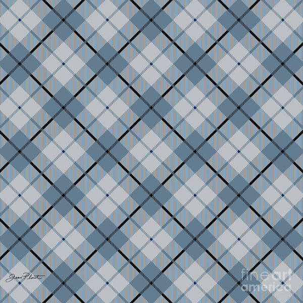 Diagonal Digital Art - Deer Trail Lodge Plaid by Jean Plout