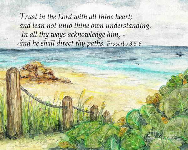 Digital Art - Deerfield Beach Sea Grapes Proverbs 3 by Janis Lee Colon