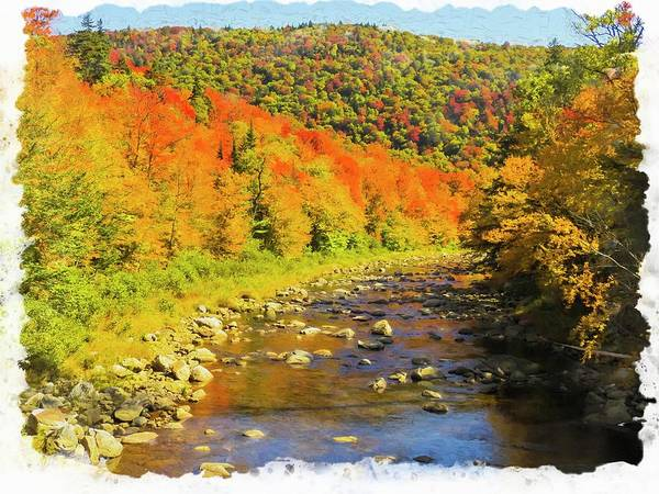 Photograph - Deerfield Rver With Fall Colors. by Rusty R Smith