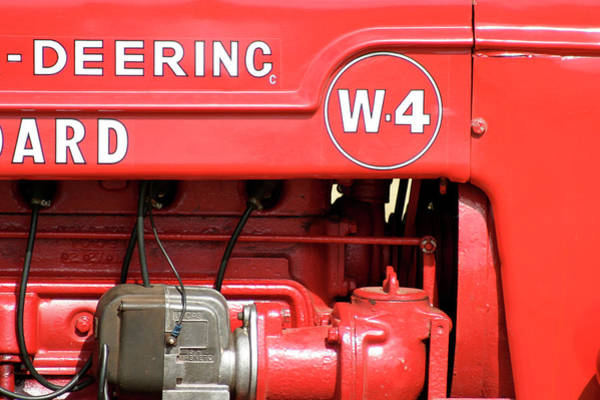 Mccormick Photograph - Mccormick Deering W4 Tractor by Richard Nixon
