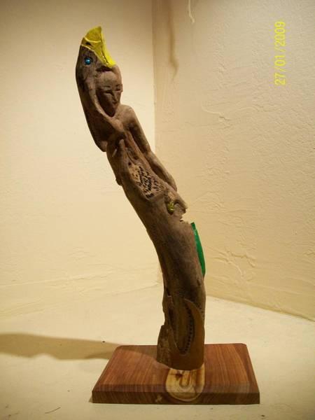 Wall Art - Sculpture - Deerspring Driftwood Sculpture  by R Eric Kee