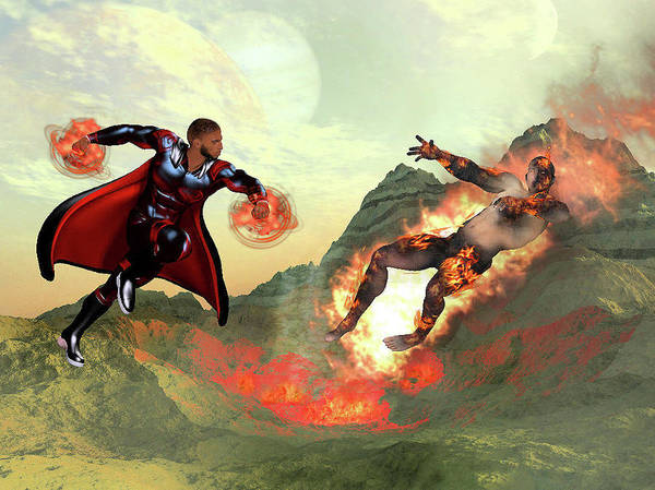 Empyreal Digital Art - Defeat Of The Lava Man by Rick Todd