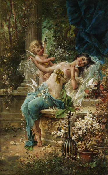 Wall Art - Painting - Defeated by Hans Zatzka