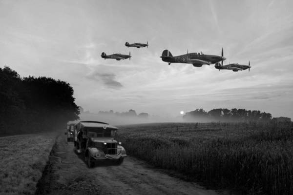 Royal Air Force Digital Art - Defence Of The Realm - Bw by Mark Donoghue