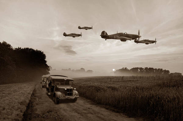 Hurricane Digital Art - Defence Of The Realm - Sepia by Mark Donoghue