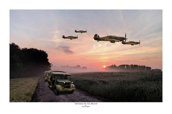 Hurricane Digital Art - Defence Of The Realm - Titled by Mark Donoghue