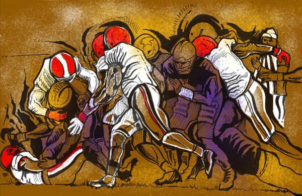 Painting - Defense by John Jr Gholson