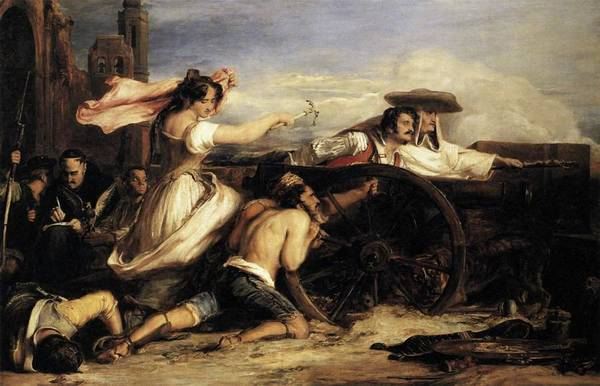 Painting - Defense Of Saragossa by David Wilkie