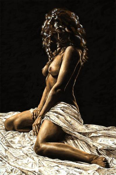Naked Woman Painting - Defiance by Richard Young