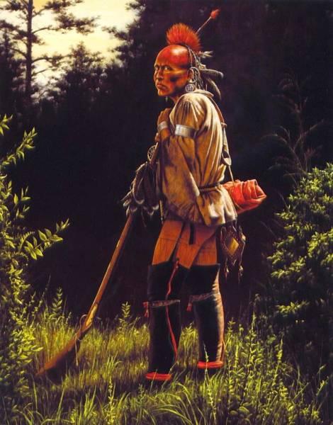Native Painting - Defiant by Dan  Nance