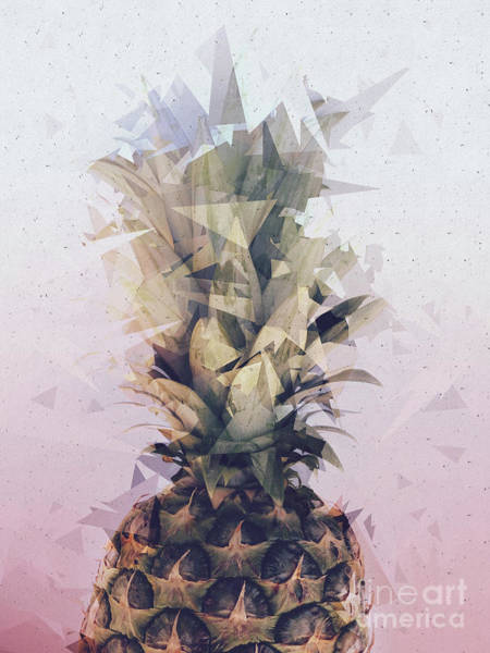 Mixed Media - Defragmented Pineapple by Emanuela Carratoni