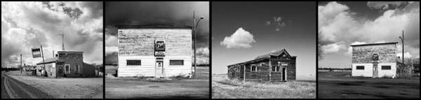 Honky Tonk Photograph - Defunct Country Taverns On North Dakota Prairie Composite Horizo by Donald  Erickson