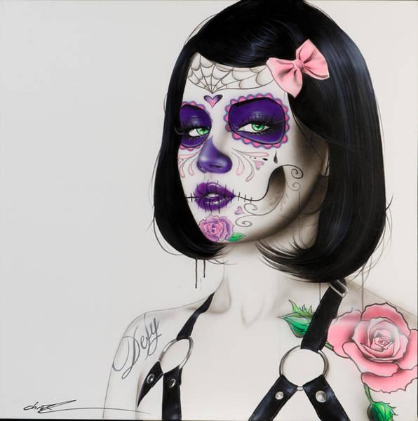 Skull Face Painting - Defy by Christian Chapman Art