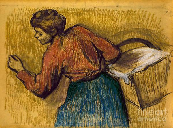 Photograph - Degas: Laundress, C1888-92 by Granger