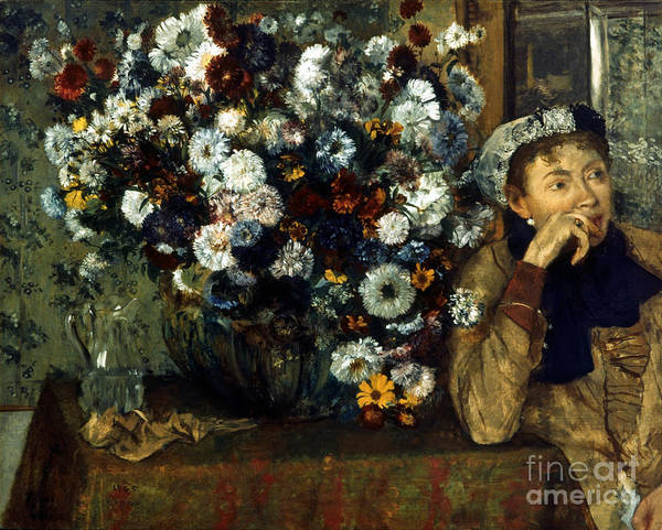 Photograph - Degas: Woman & Flowers by Granger