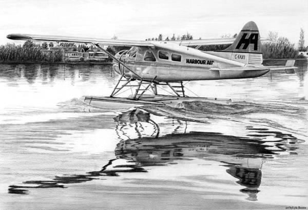 Wall Art - Drawing - Dehavilland Beaver by Lyle Brown