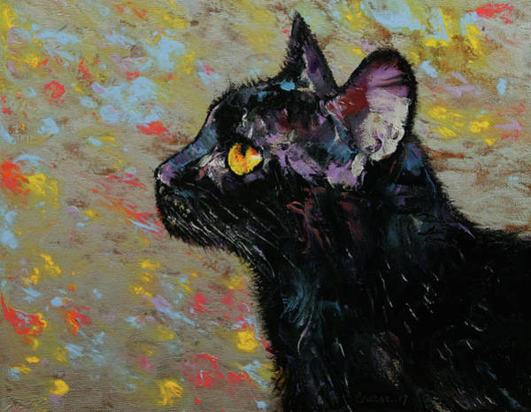 Crazy Cat Painting - Deja Vu by Michael Creese