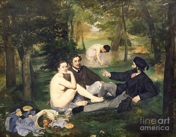 Manet Wall Art - Painting - Dejeuner Sur L Herbe by Edouard Manet