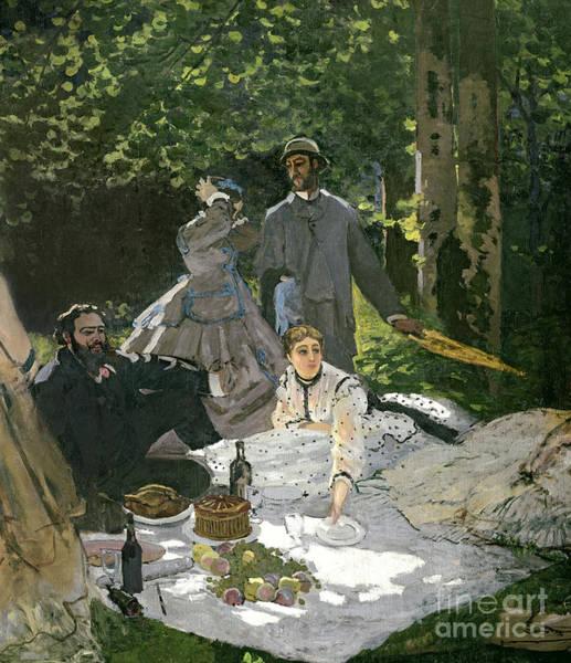 Dgt Wall Art - Painting - Dejeuner Sur Lherbe by Claude Monet