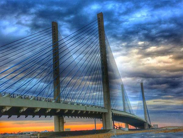Photograph - Delaware Bridge At Sunset by Sumoflam Photography