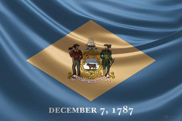 Digital Art - Delaware State Flag by Serge Averbukh