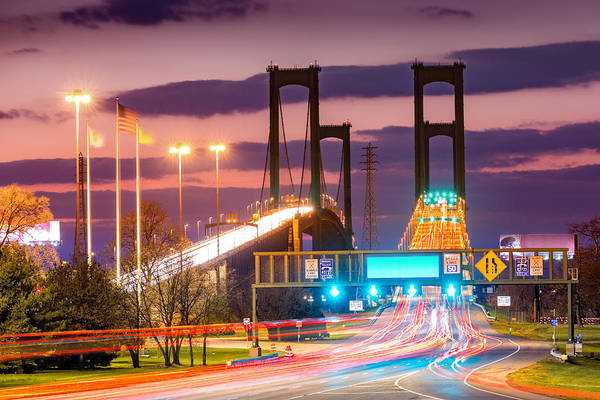 Photograph - Delaware Memorial Bridge by Mihai Andritoiu