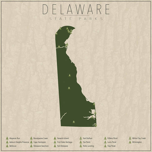 Delaware State Park Wall Art - Digital Art - Delaware Parks by Finlay McNevin