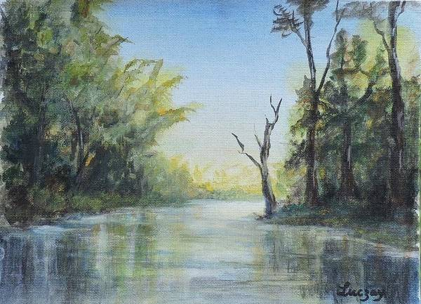 Painting - Delaware River  by Katalin Luczay